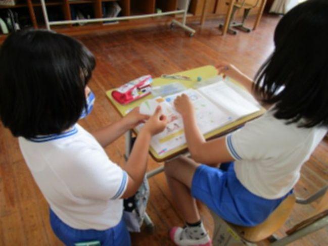 志学中学校志学小学校の授業を見ました。